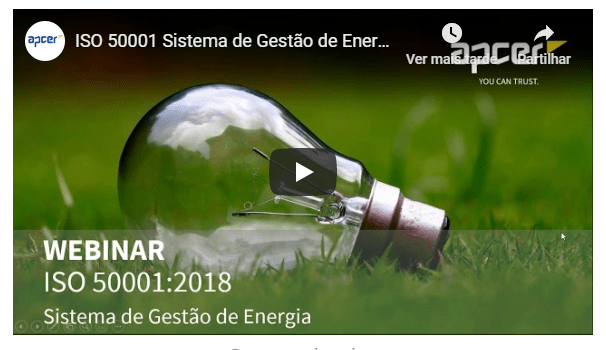 ISO 50001 Sistema de Gestão de Energia Blog GVE Gestor Virtual de Energia